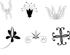 Free Six Decorative Ornament For Design Stock Images - 16100274