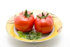 Free Refine Tomatoes With Parsley Stock Images - 16100544