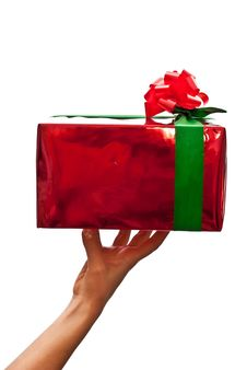 Female Hand Holding Gift Box Royalty Free Stock Photography