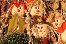 Four Scarecrows Royalty Free Stock Photography