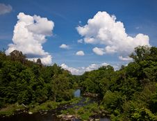 Free Landscape And Cloudscape Of River Valley Royalty Free Stock Photography - 16100877