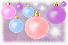 Free Pastel Christmas Balls Royalty Free Stock Photography - 16100967