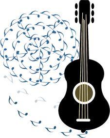 Free Black  Guitar Royalty Free Stock Image - 16101186