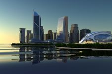 Free Modern City Stock Photo - 16101730