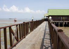 Beach House In Thailand Royalty Free Stock Photography