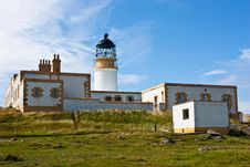 Lighthouse In Sutherland Stock Photo