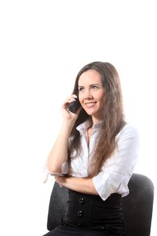 Free Businesswoman With A Phone Stock Images - 16102674