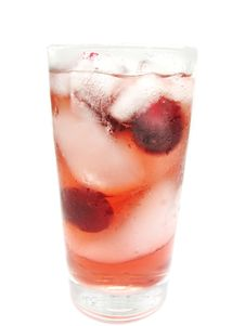 Free Fruit Red Juice With Ice And Cherry Royalty Free Stock Photo - 16103055