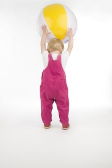 Kid With Ball. Stock Image