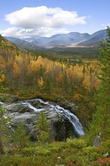 Free Falls Among The Northern Mountains Stock Image - 16103511