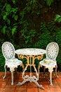 Free Two White Chairs Royalty Free Stock Photos - 16117878
