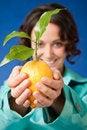 Free Lemon Hands Woman Stock Photos - 16118153