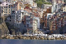 Breakwater, Vernazza, Italy Royalty Free Stock Image