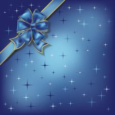 Free Christmas Illustration Bow On A Stars Background Stock Photography - 16113932