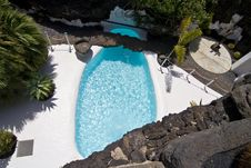 Free Swimming Pool In Natural Volcanic Rock Area Stock Photo - 16114450