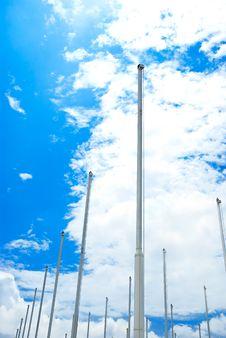 Flagstaff On Blue Sky Royalty Free Stock Image