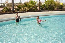 Free Young Boy Has Fun In The Pool Stock Photo - 16114930