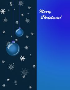 Free Christmas Balls And Snowflake On Dark And Blue Bac Stock Image - 16117231