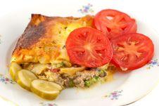Free Lasagna And Salad Royalty Free Stock Photo - 16117325