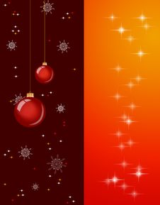 Free Christmas Background With Baubles And Lights Royalty Free Stock Images - 16117399