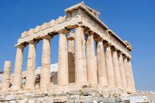 Free Parthenon Side Back View Stock Image - 16117411