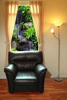 Free Black Sofa And Lamp Stock Photos - 16117733