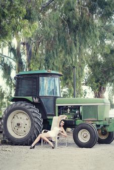 Country Farm Girl Royalty Free Stock Photography