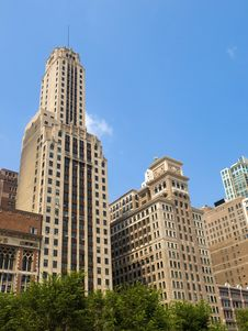 Free Chicago Skyscrapers Royalty Free Stock Photography - 16118017