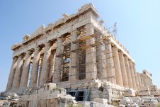 Free Parthenon Side Front Close Up View Royalty Free Stock Photography - 16118197