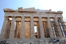 Free Parthenon Front Close Up View Royalty Free Stock Photo - 16118515