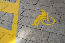 Free Parking For The Disabled Stock Photos - 16119423