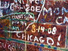 Free Painted Brick Wall Royalty Free Stock Photo - 16119445