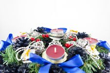 Free Christmas Wreath Royalty Free Stock Images - 16119799