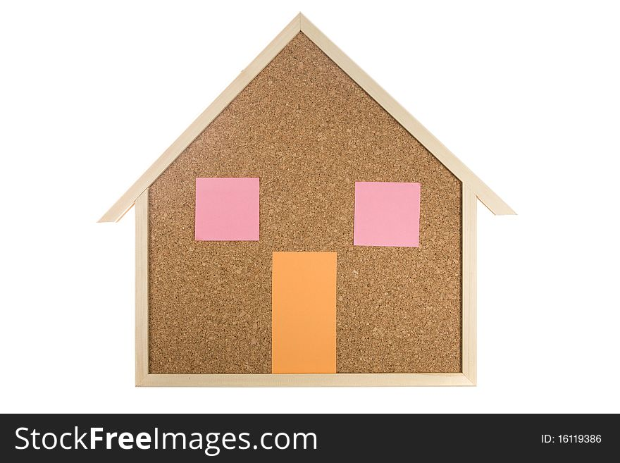 Home Interior Cork Bulletin Board