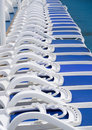 Free Blue Sun Loungers. Royalty Free Stock Photography - 16120917