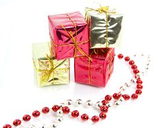 Free Christmas Gifts Decoration Isolated Royalty Free Stock Photography - 16120047