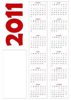 Free Calendar 2011 Stock Photos - 16120703