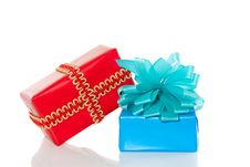 Free A Red And A Blue Gift Stock Image - 16121131