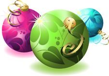 Free Eps8 3d Christmas Ball Stock Images - 16121174