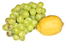Free Grapes And Lemon Royalty Free Stock Photography - 16122477