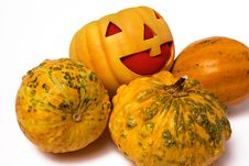 Free Prank Pumpkin Royalty Free Stock Image - 16122726