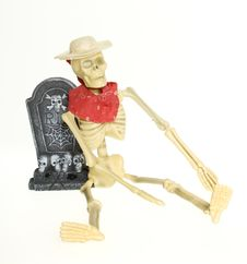 Free Cowboy Skeleton In Graveyard CLIPPING PATH Stock Images - 16123554