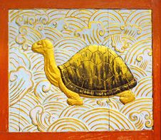 Free Turtle Wood Carving Royalty Free Stock Photo - 16124725