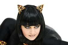 Cat Woman Stock Photography