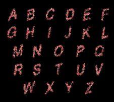 3D Alphabets Scatter Illustration Stock Photos