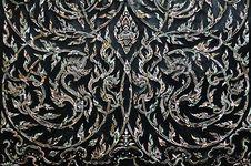 Free Thai Art On The Door Royalty Free Stock Image - 16125796