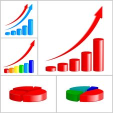 Business Diagram Set Stock Images