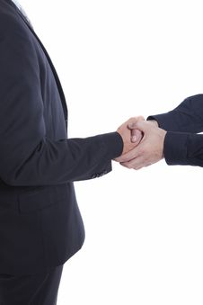 Free Businessman Shaking Hands, With Both Hands Stock Photo - 16126320