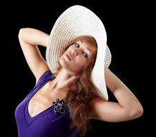 Free Girl In Sexy Dress With A Hat Royalty Free Stock Image - 16126626
