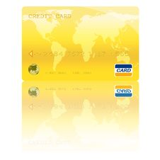 Free Golden Credit Card Digital Illustration Stock Image - 16126901